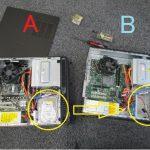 HDD載せ替え作業