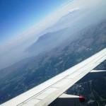 飛行機からの鹿児島