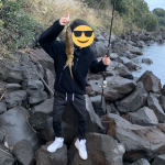 初めて釣り上げた